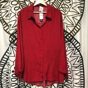 Tops - NWT Miss Lili Striped Button Down